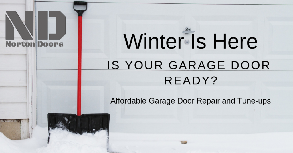 Winter garage door tune up special